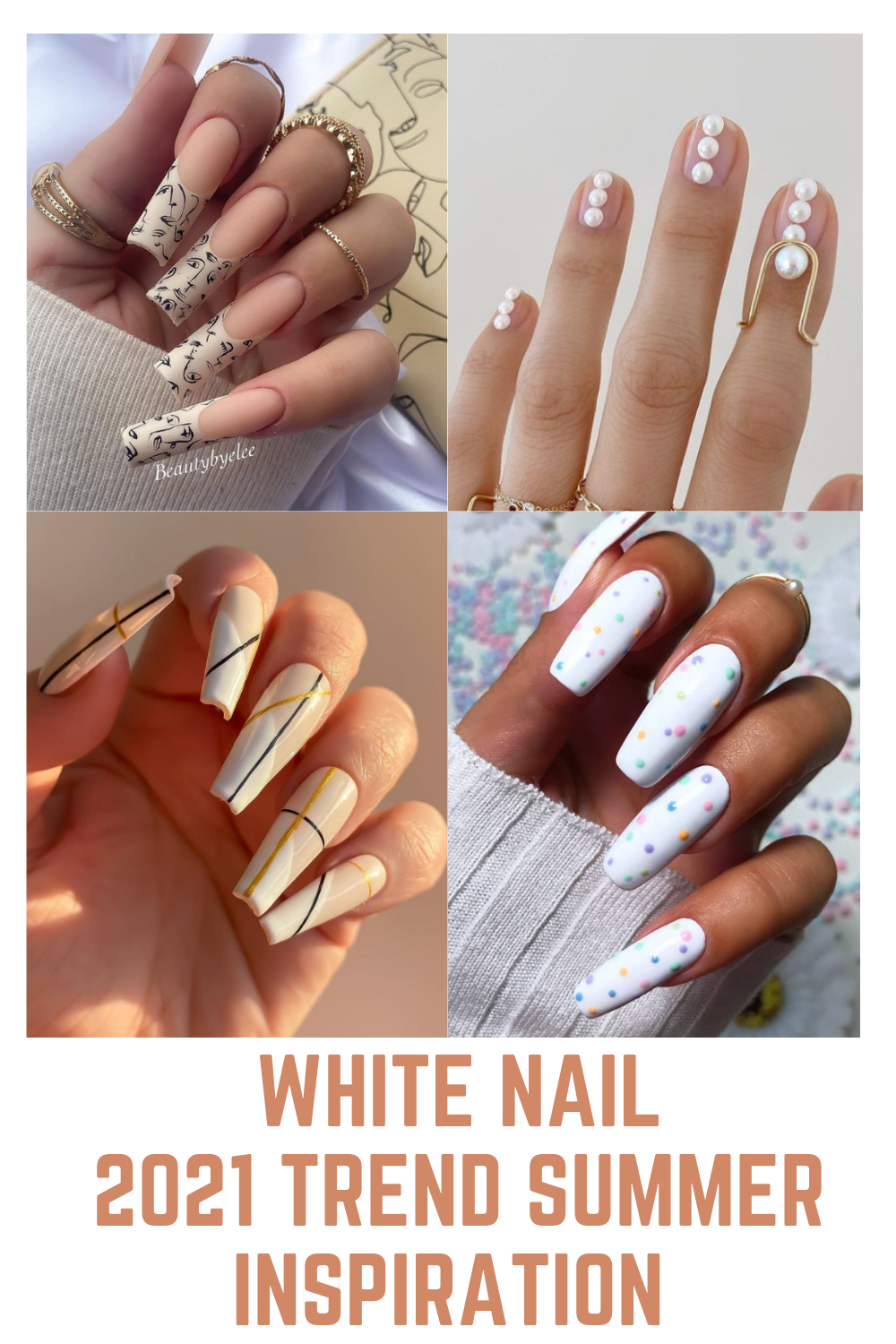 White nail   2021 Trend stylish acrylic nails for summer inspiration