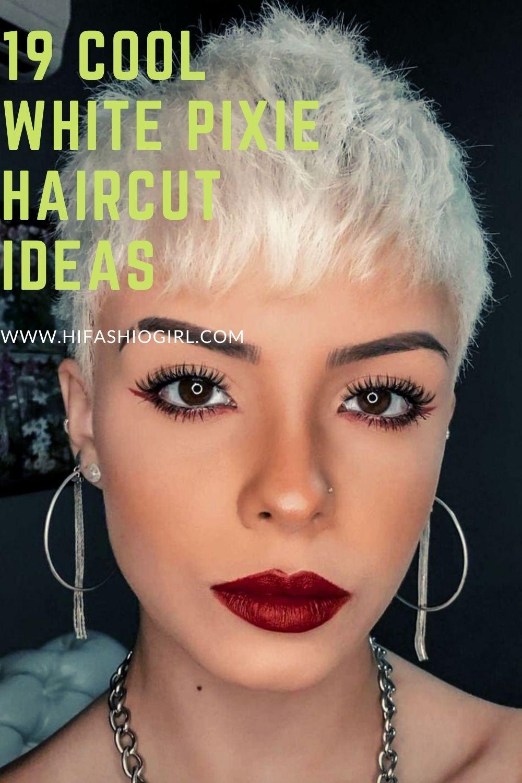 20 Best white pixie haircut for women 2021