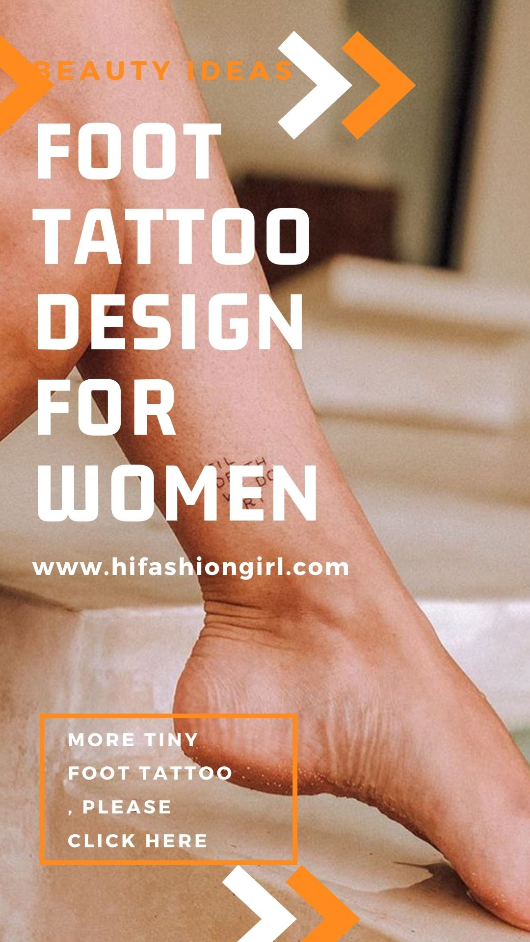 Foot tattoos for women | Try your first tattoo on foot 2021!