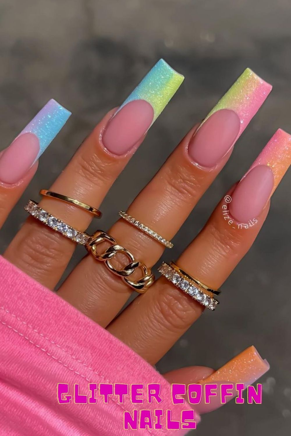 Best Coffin Acrylic Nails For Summer Nail Design 2021