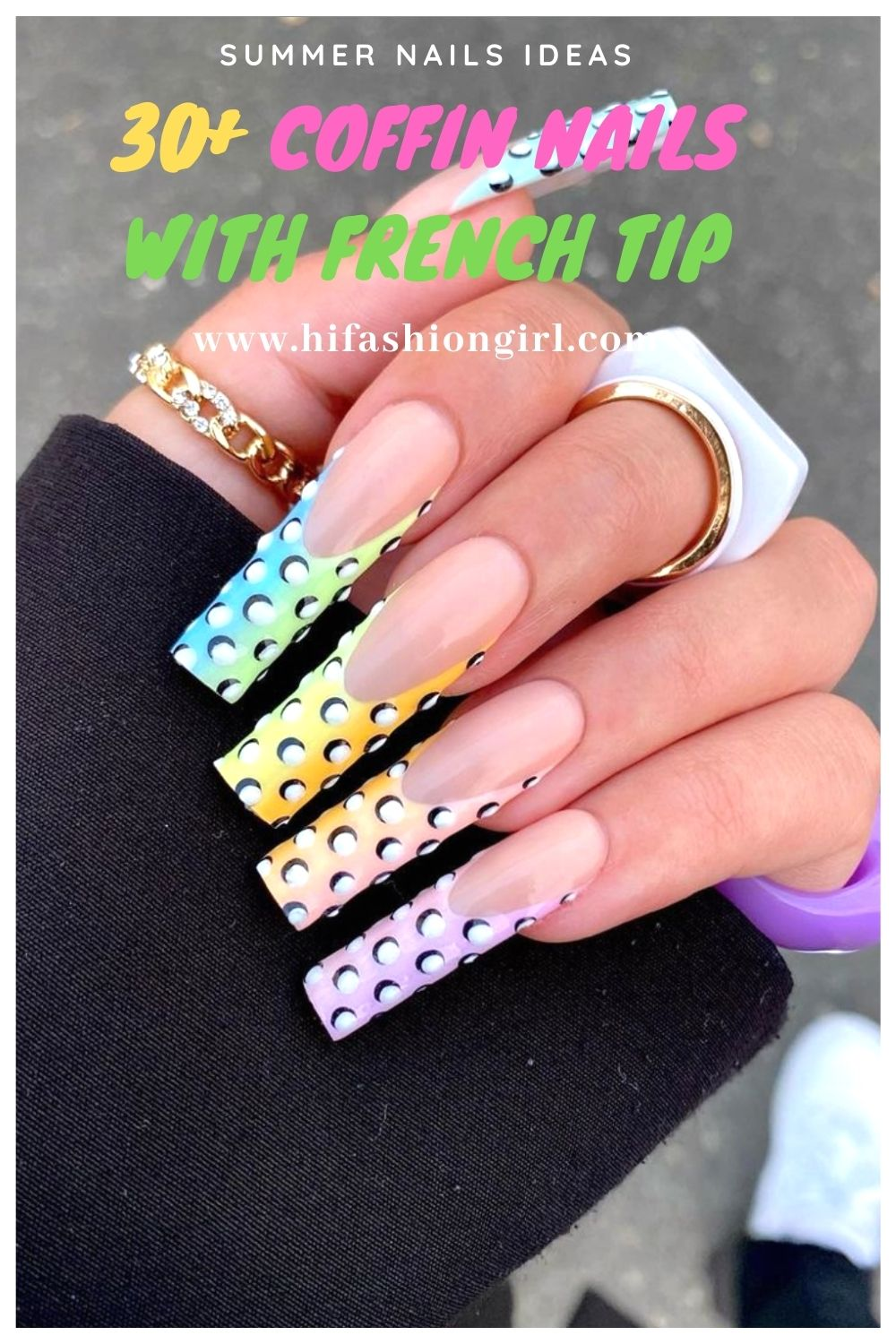 Best Summer acrylic coffin nails design you'll flip for in 2021!