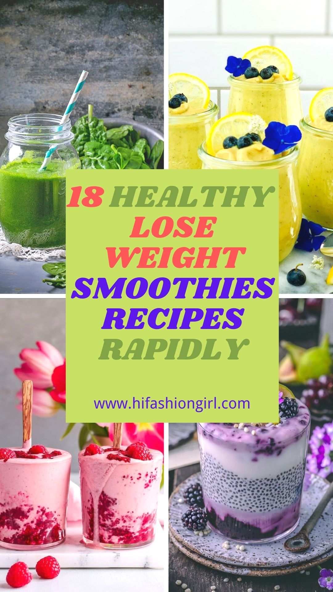 Healthy Weight Loss Smoothie Recipes to burn your fat !