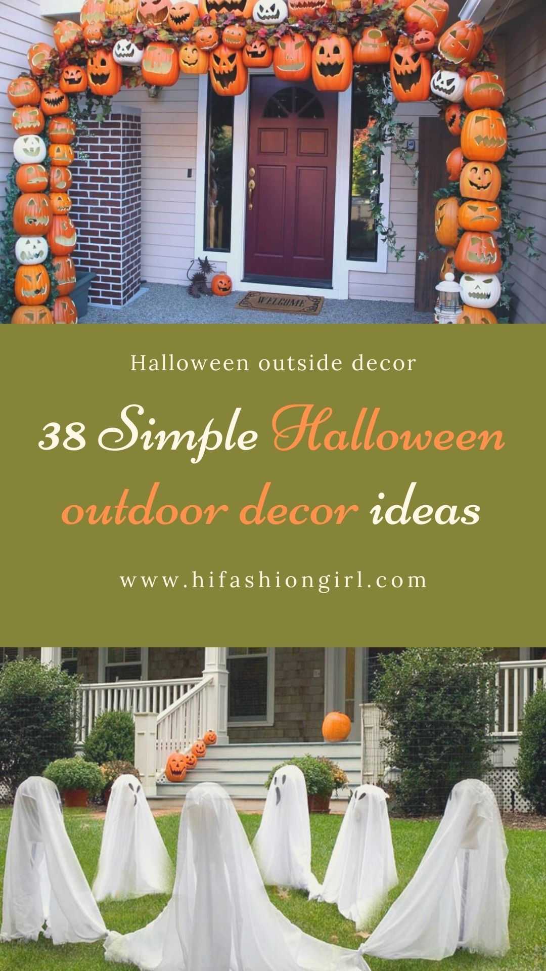 38 Best DIY Halloween outdoor decorations ideas 2021