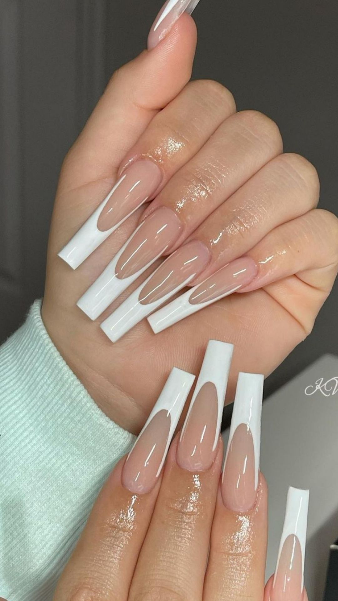 Best white tip nails design & pink and white nails to try 2021