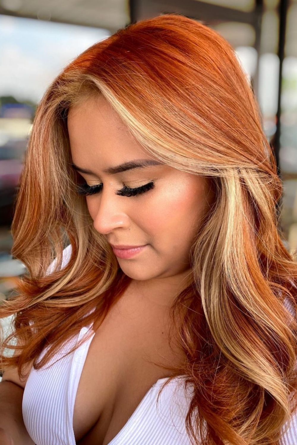 33 Cool Copper highlights for Fall hair color 2021 trends