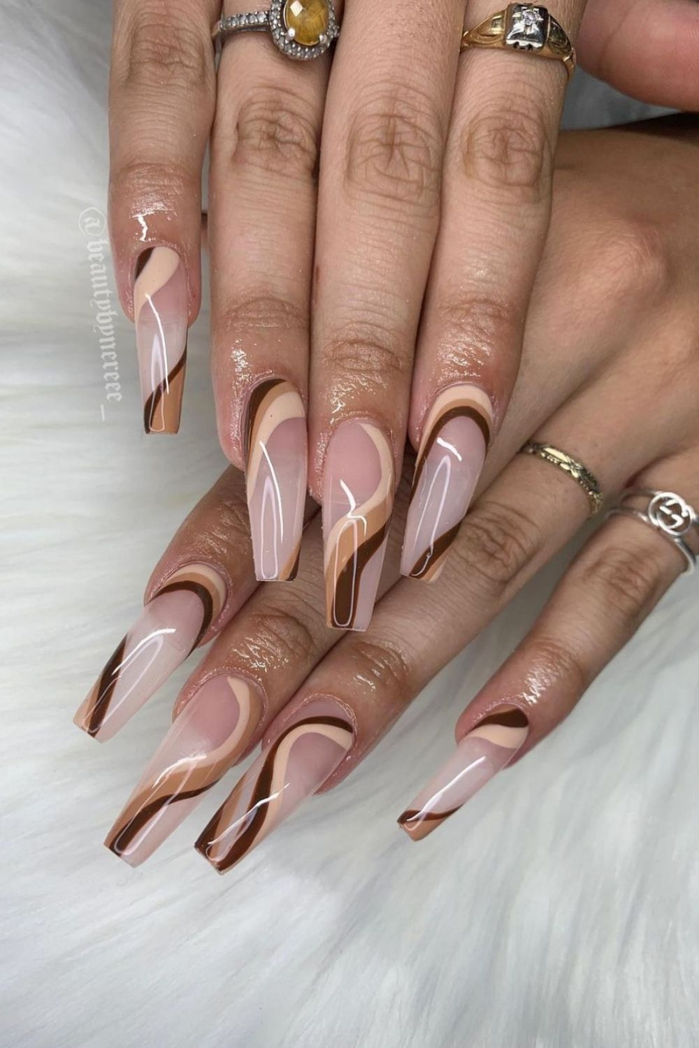 27 Trendy brown nail design ideas for fall nail colors 2021